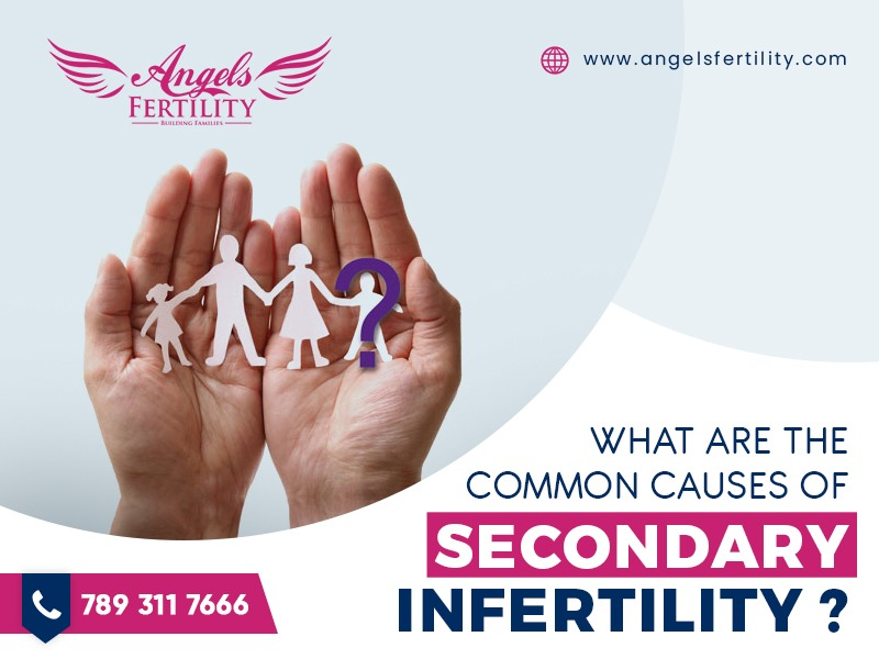 What are the common causes of secondary infertility?